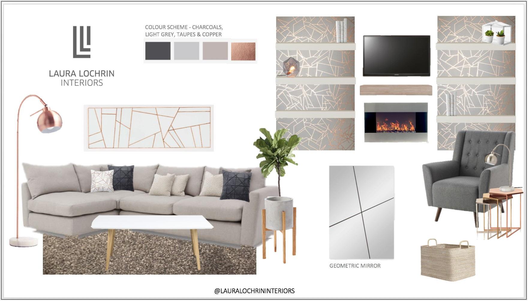 Blush Grey Copper Living Room