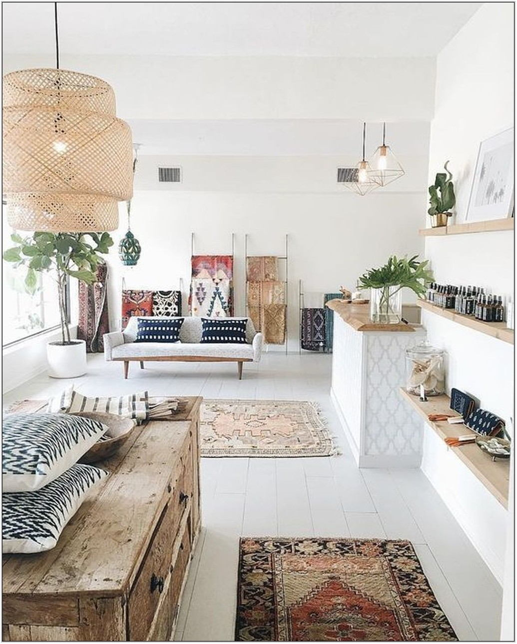 Bohemian Living Room On A Budget
