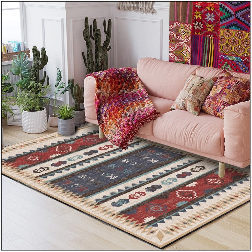 Bohemian Living Room Rugs