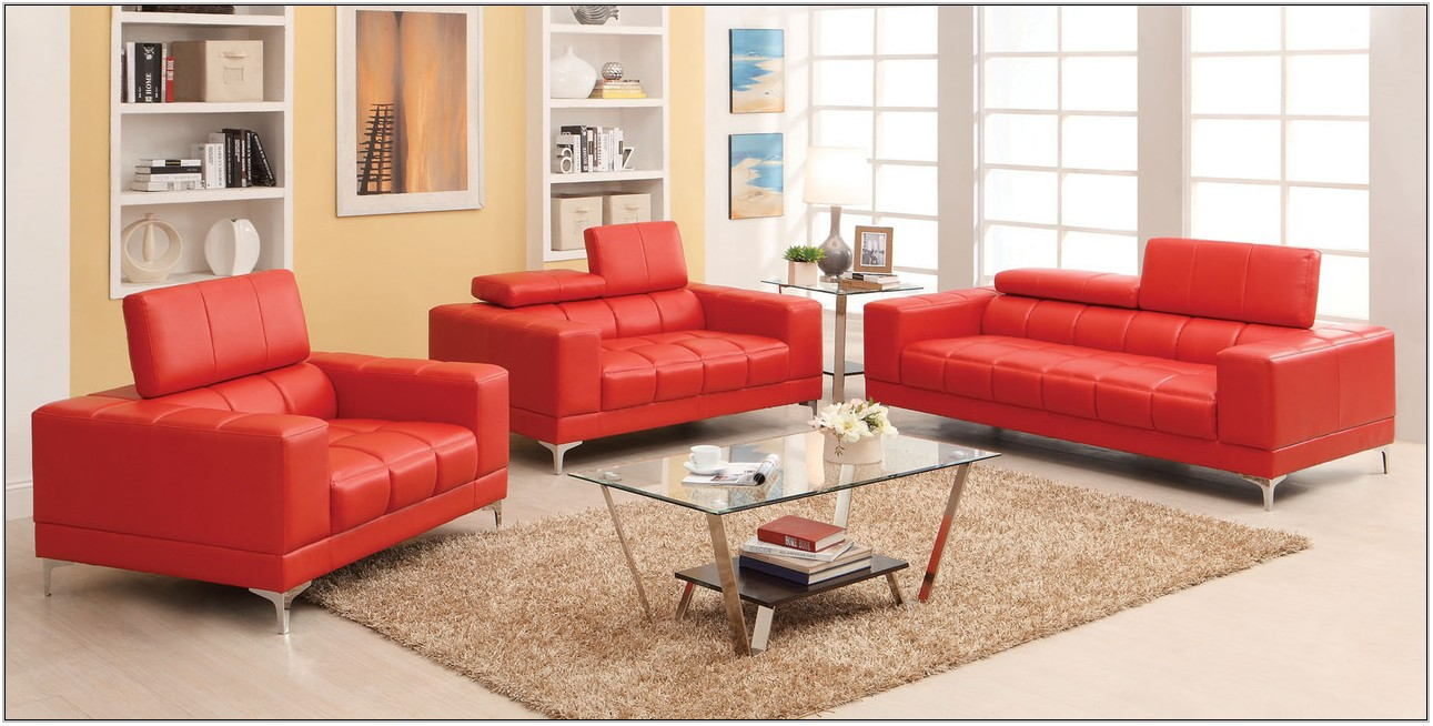 Bonded Leather Living Room Set