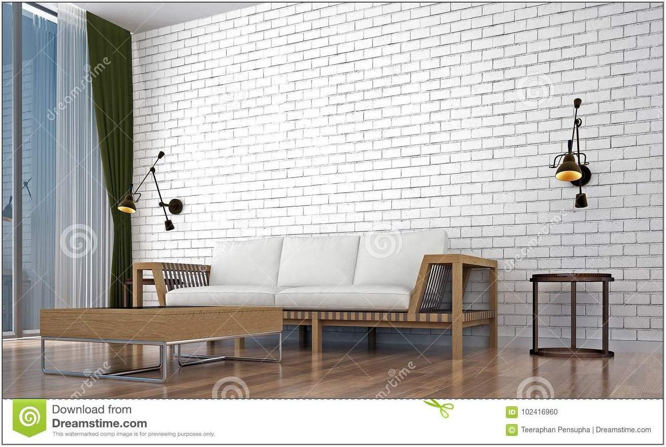 Brick Wall Design Living Room