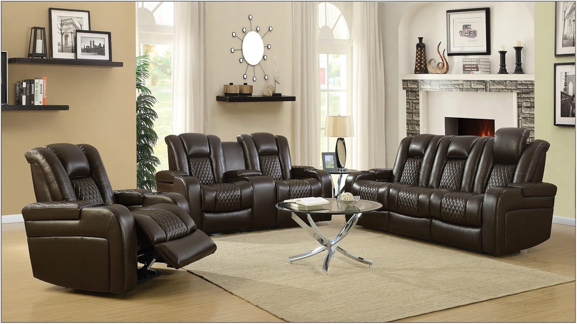Brown 3 Piece Living Room Set