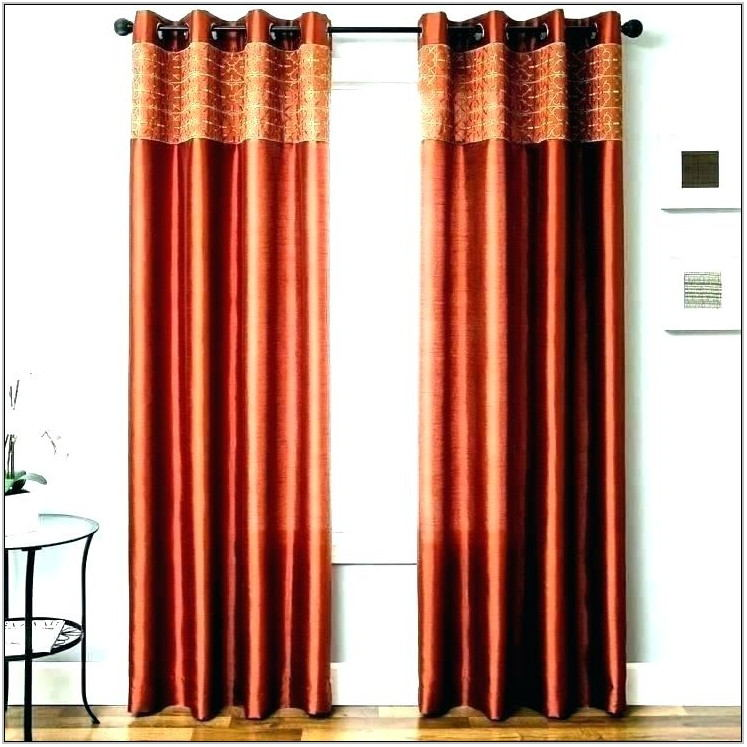 Brown And Orange Curtains For Living Room