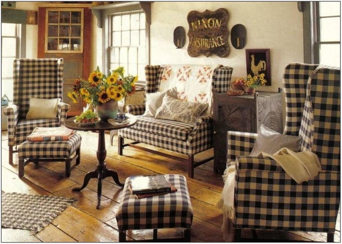 Buffalo Check Living Room Ideas