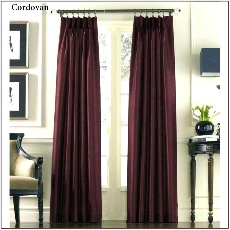 Burgundy Drapes For Living Room