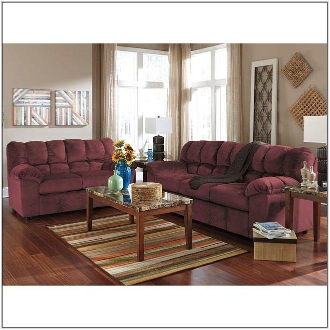 Burgundy Living Room Furniture