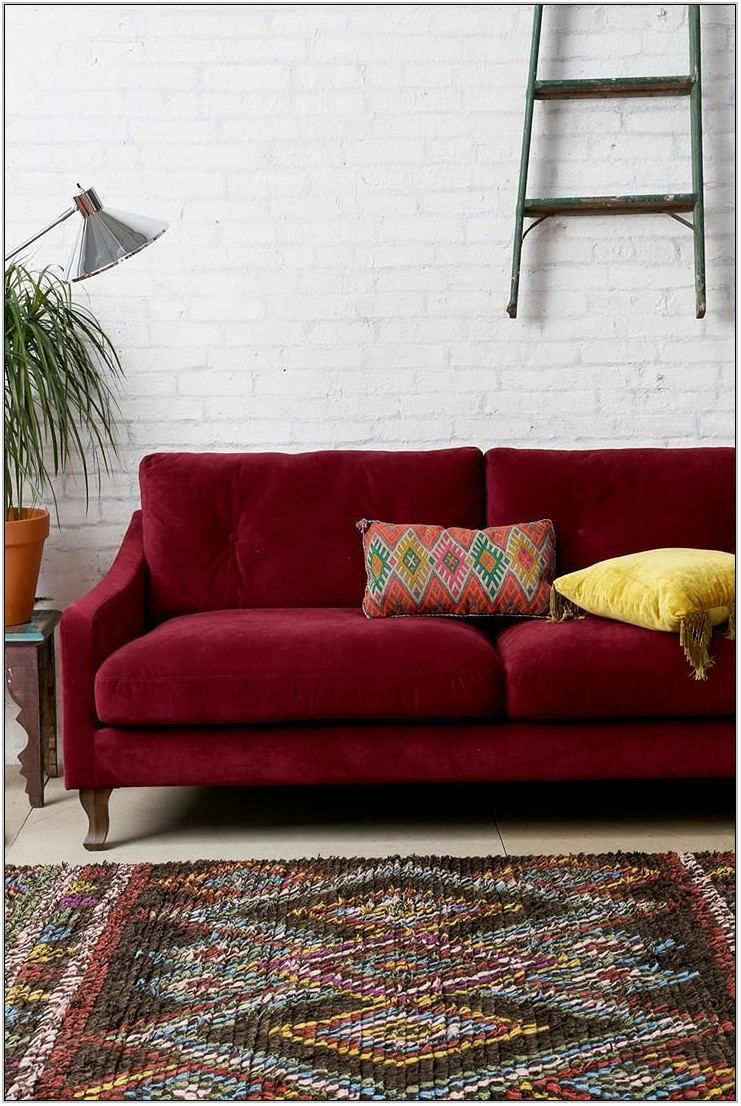 Burgundy Living Room Rug