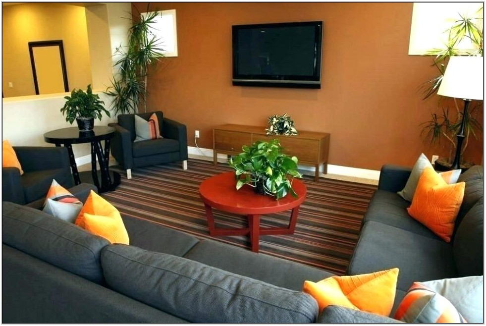 Burnt Orange And Grey Living Room