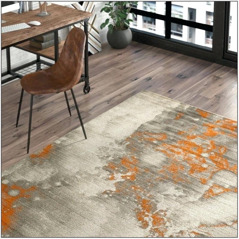 Burnt Orange Living Room Rug