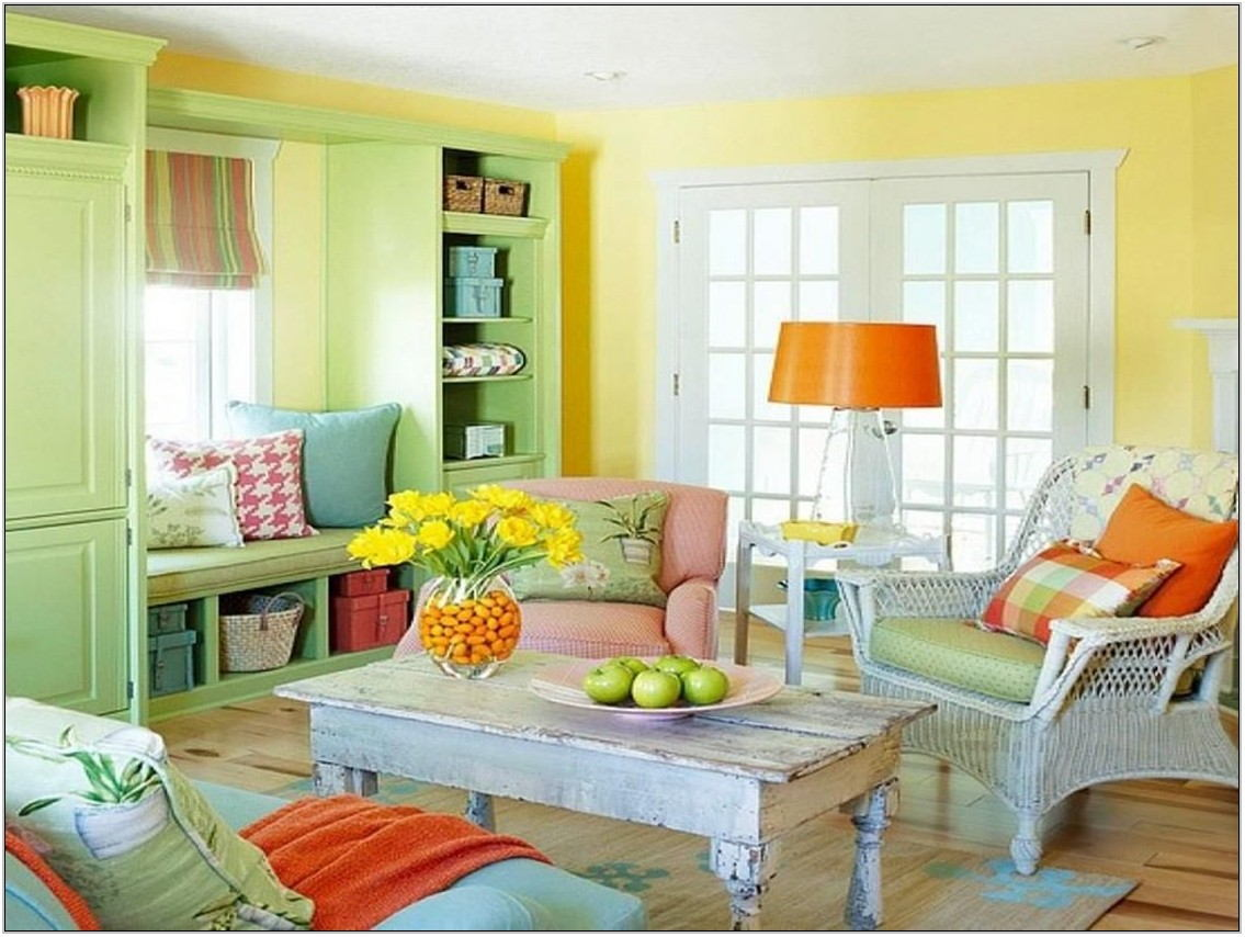 Cheerful Living Room Colors