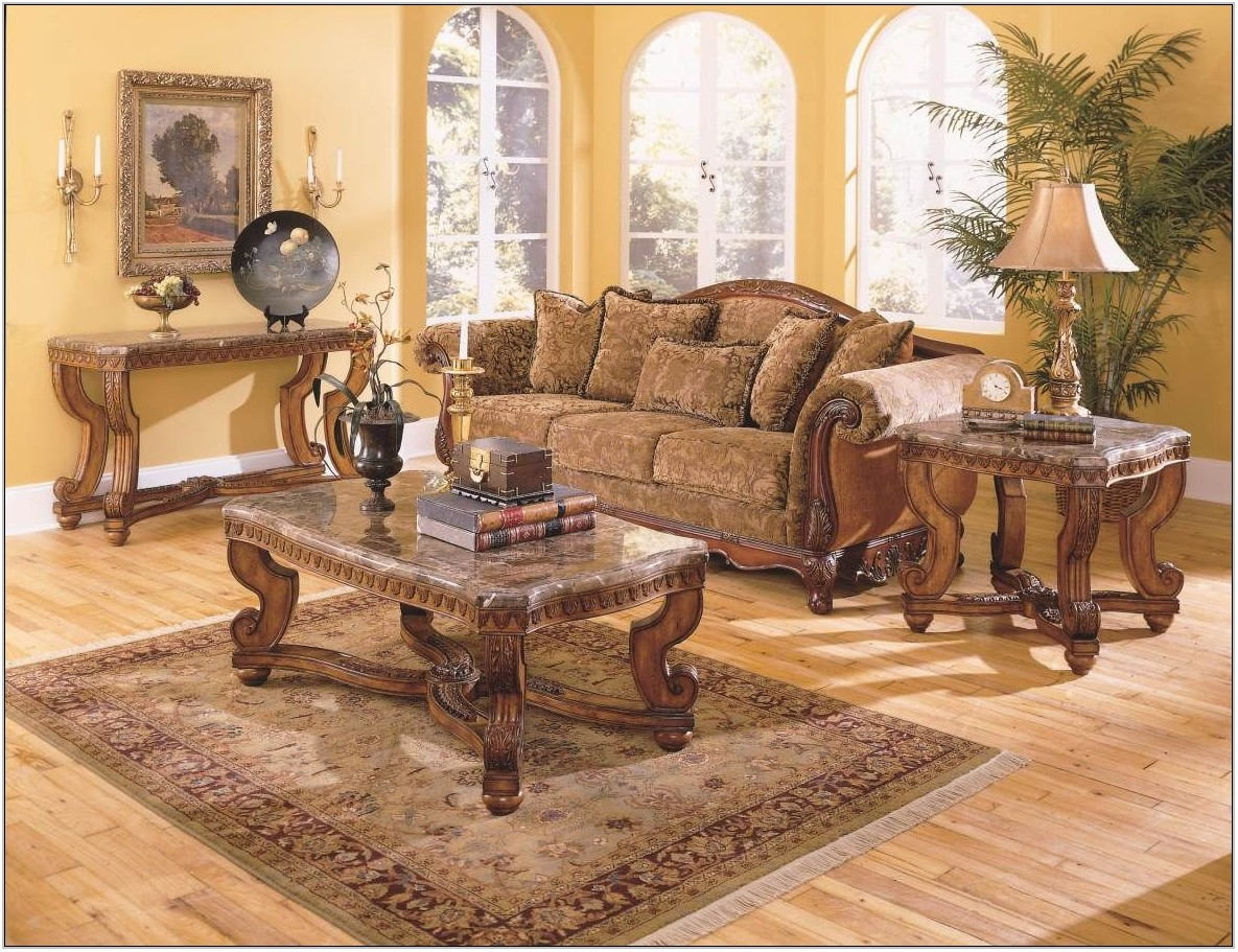 Cherry Wood Living Room Set