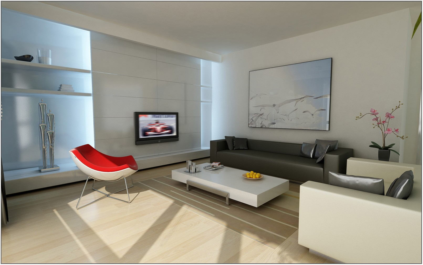 Contemporary Minimalist Living Room