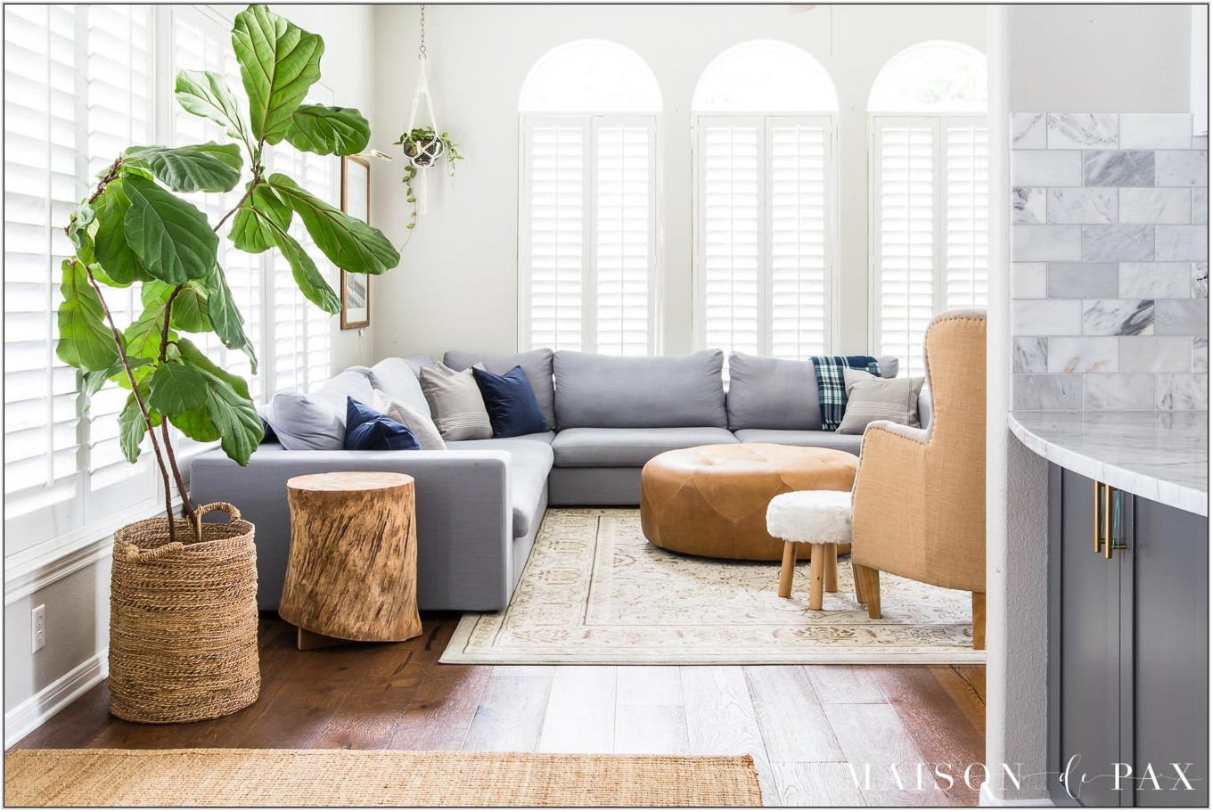 Contemporary White Living Room Design Ideas