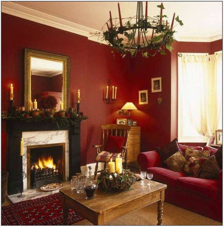 Cranberry Color Scheme Living Room