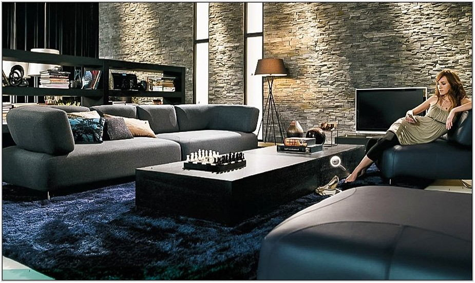Dark Blue Carpet Living Room