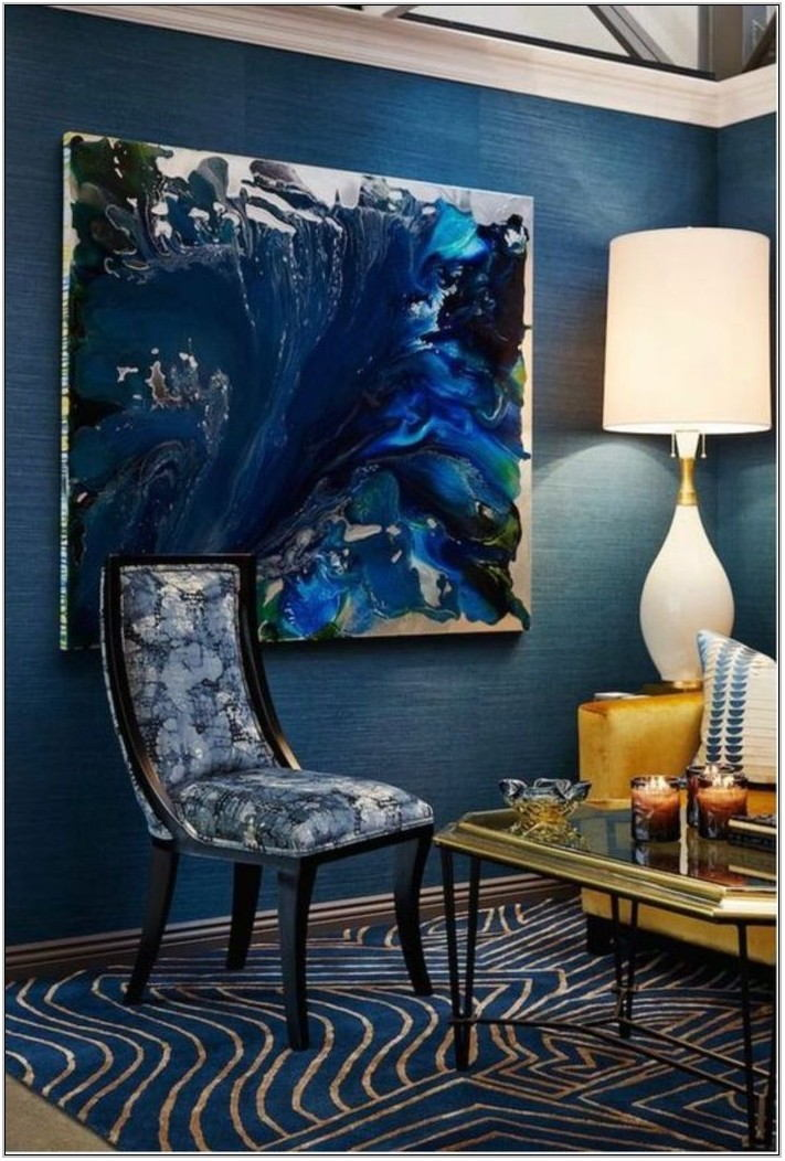 Dark Blue Paint Colors For Living Room