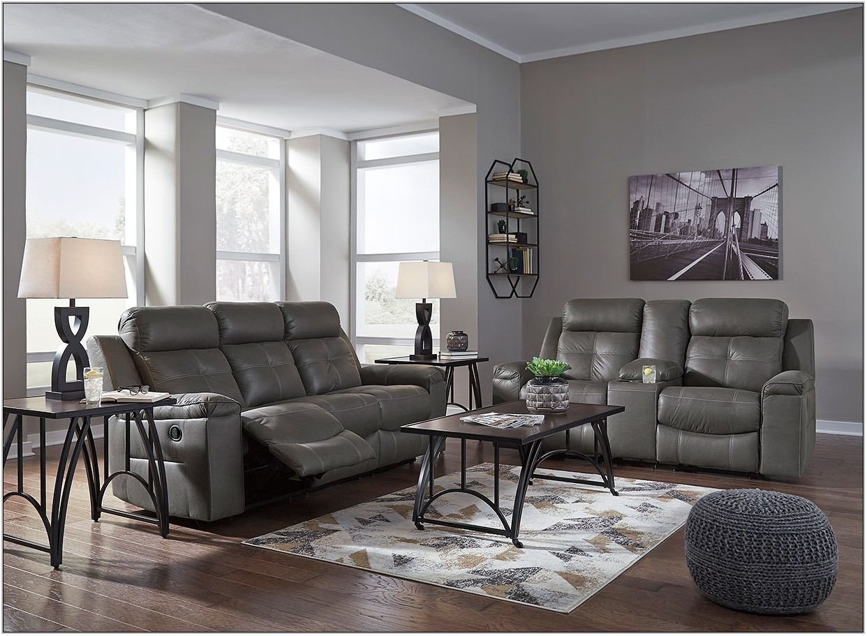 Dark Gray Living Room Set