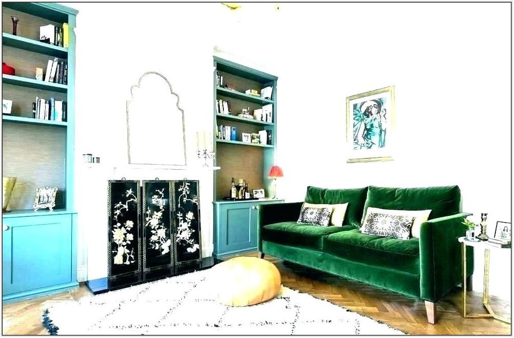 Dark Green Couch Living Room