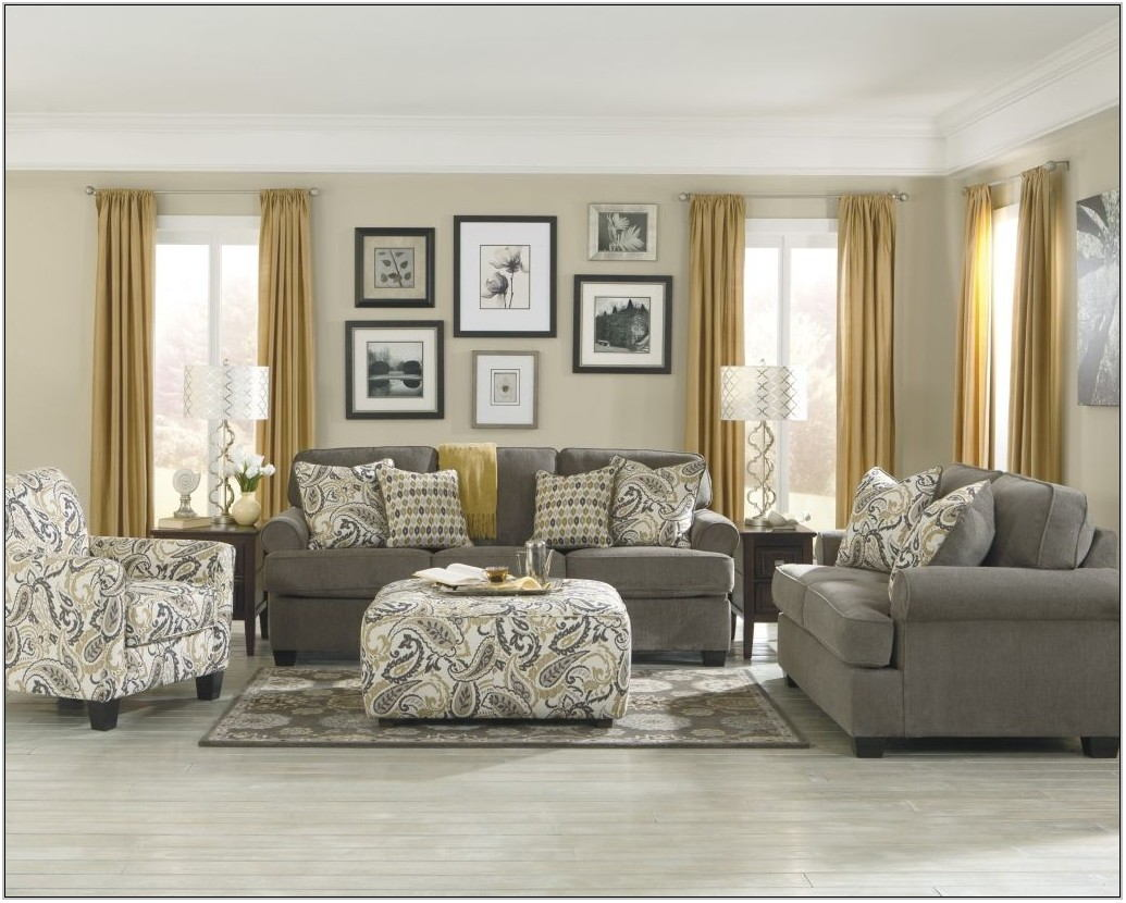 Dark Grey And Gold Living Room