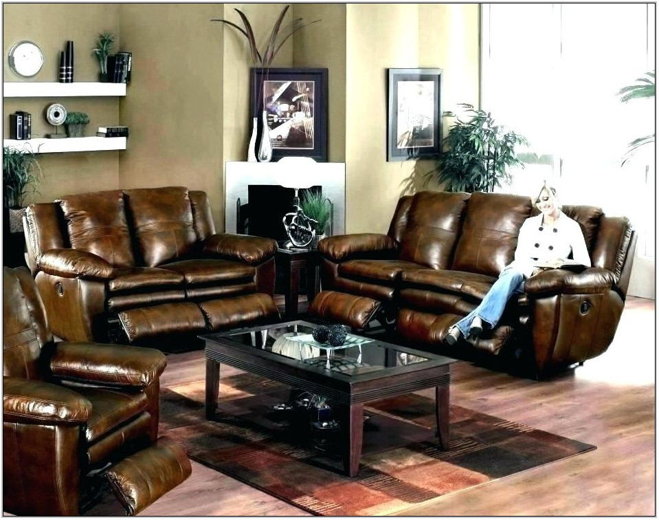 Dark Leather Couch Living Room