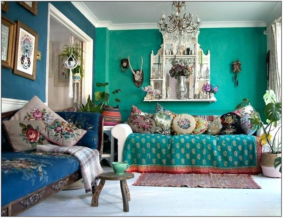 Dark Teal Couch Living Room