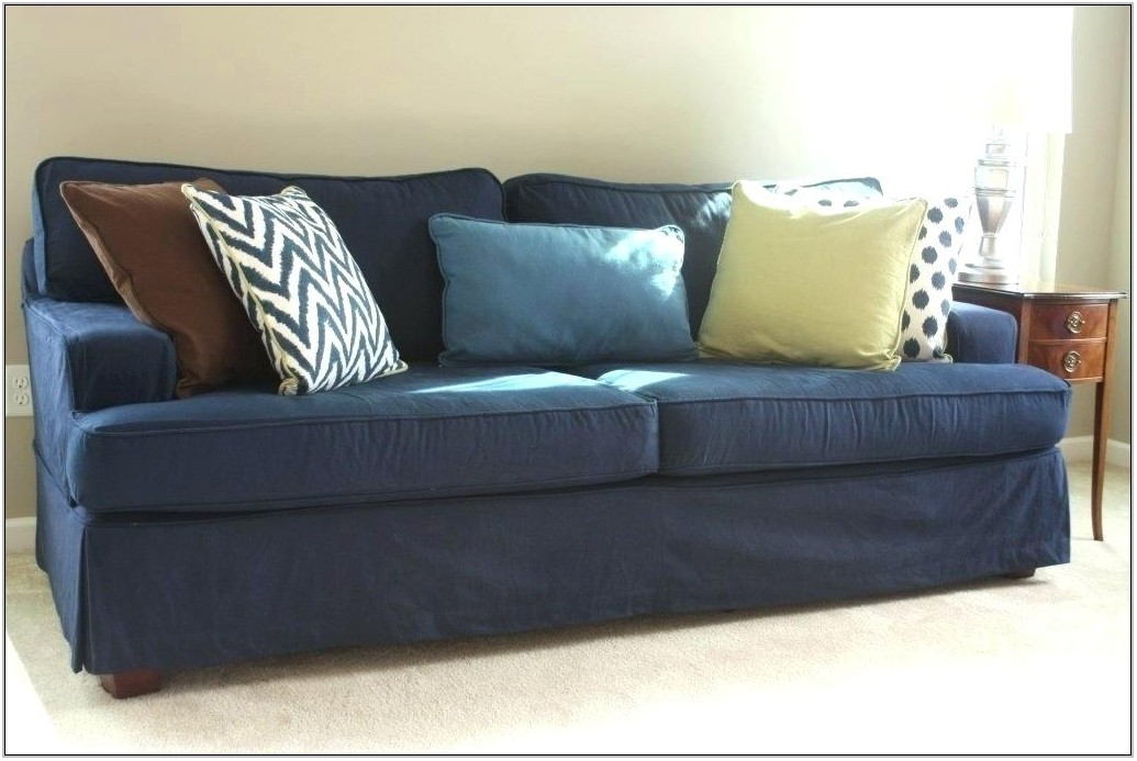 Denim Blue Couch Living Room