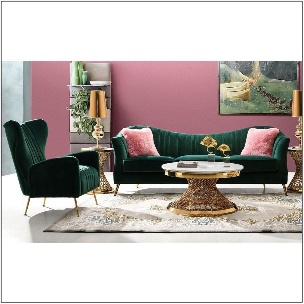 Emerald Green Living Room Set