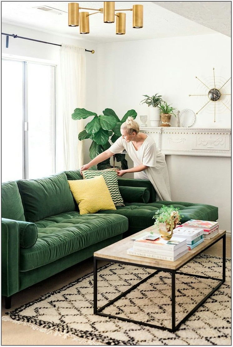 Emerald Green Sofa Living Room