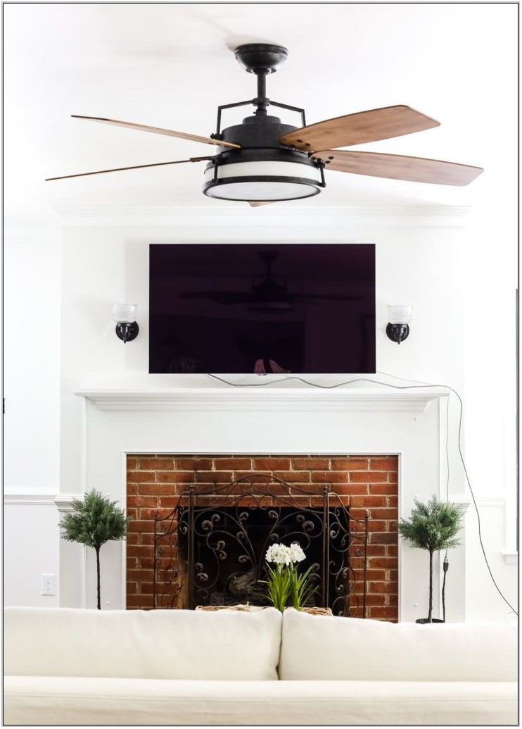 Farmhouse Living Room Ceiling Fan