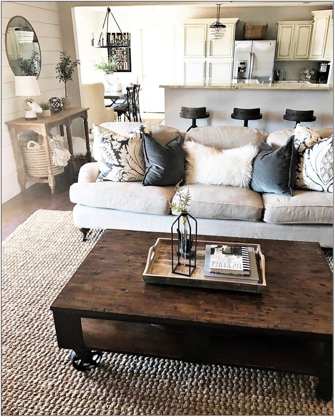Farmhouse Living Room Coffee Table