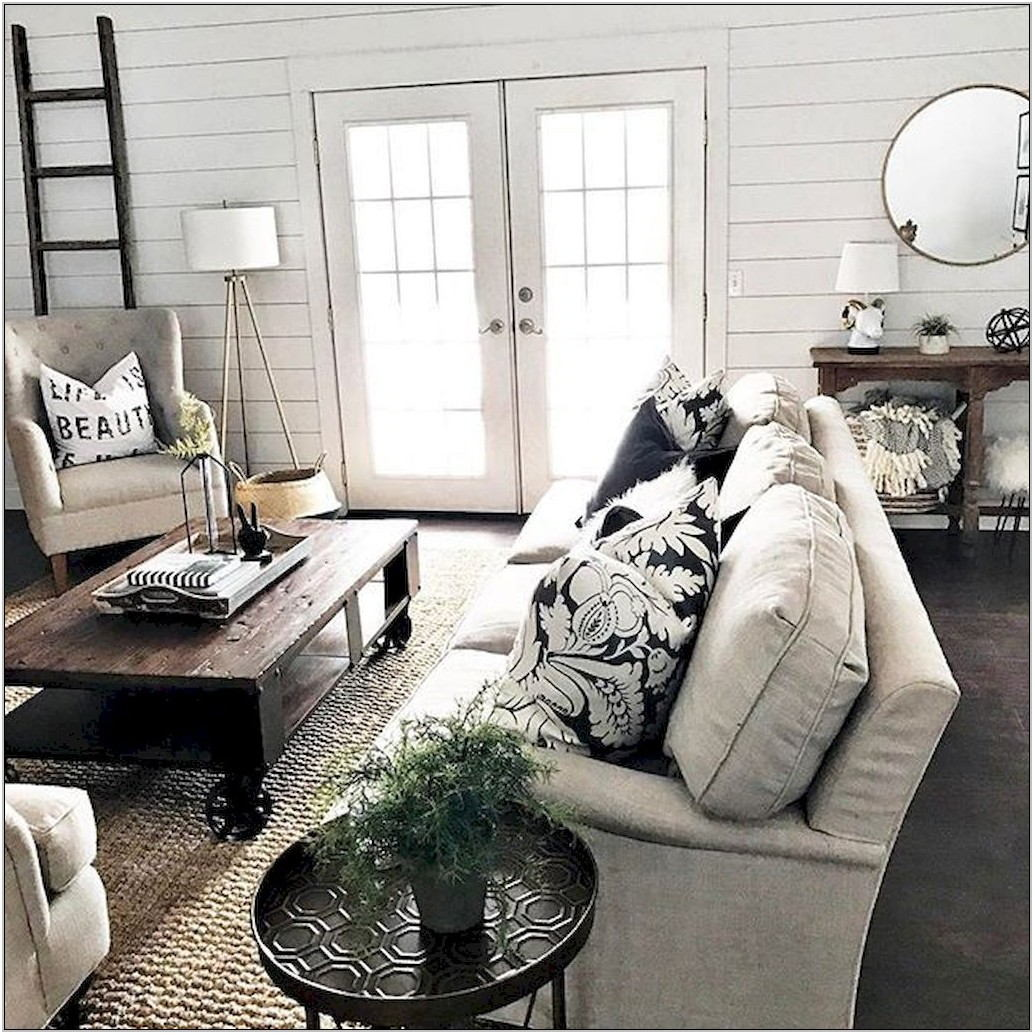 Farmhouse Living Room Table Sets