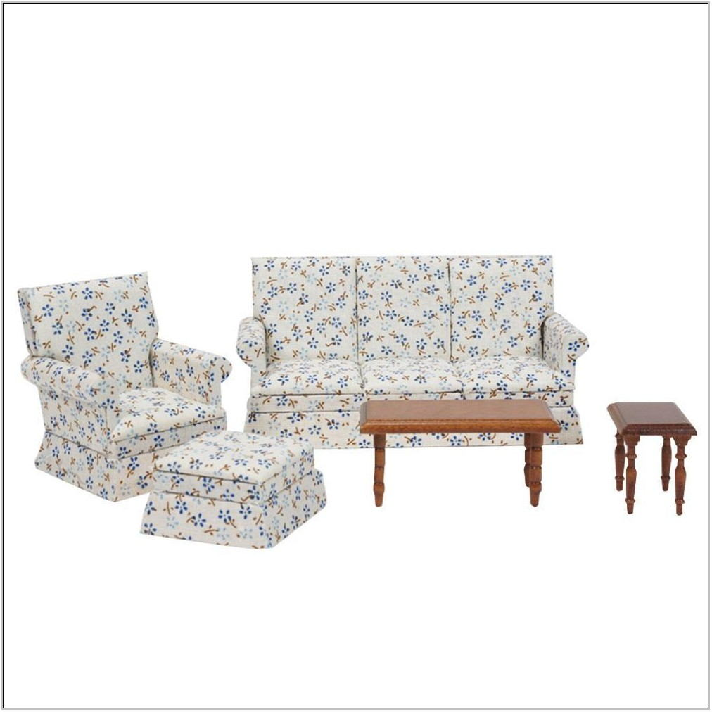 Floral Living Room Set