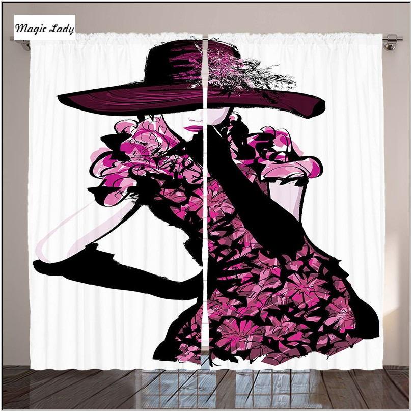 Fuchsia Curtains Living Room