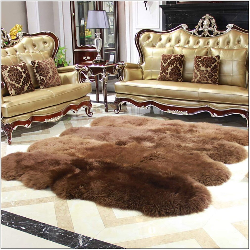 Fur Rug Living Room