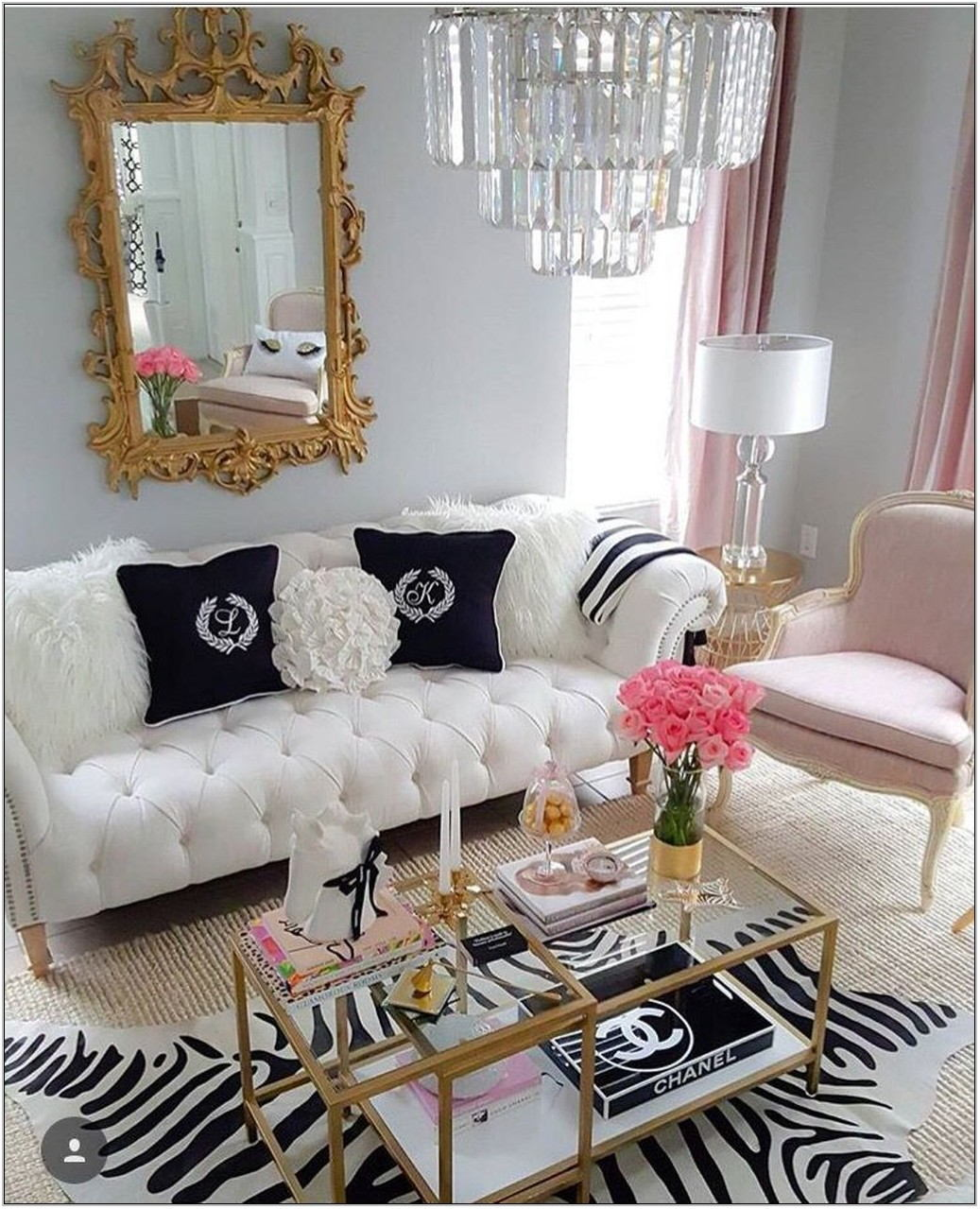 Girly Living Room Ideas
