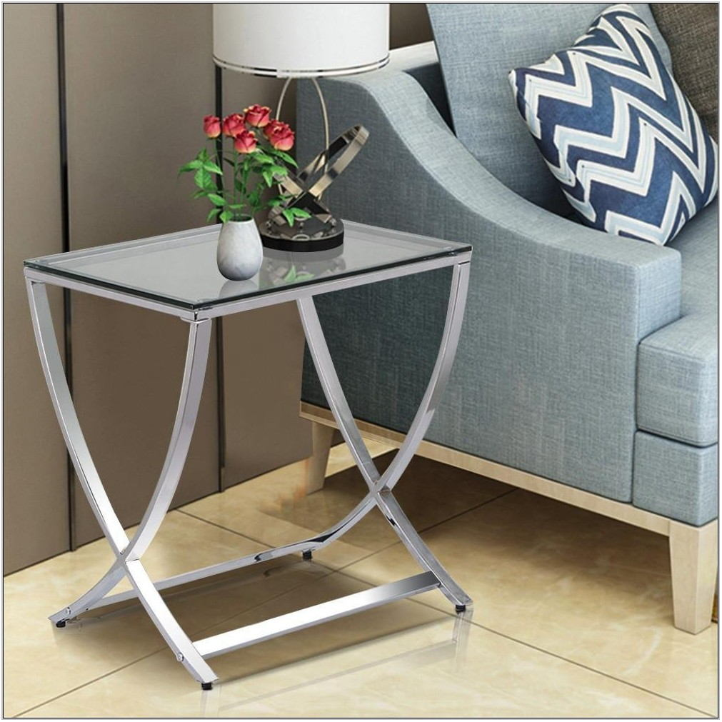 Glass Side Table Living Room