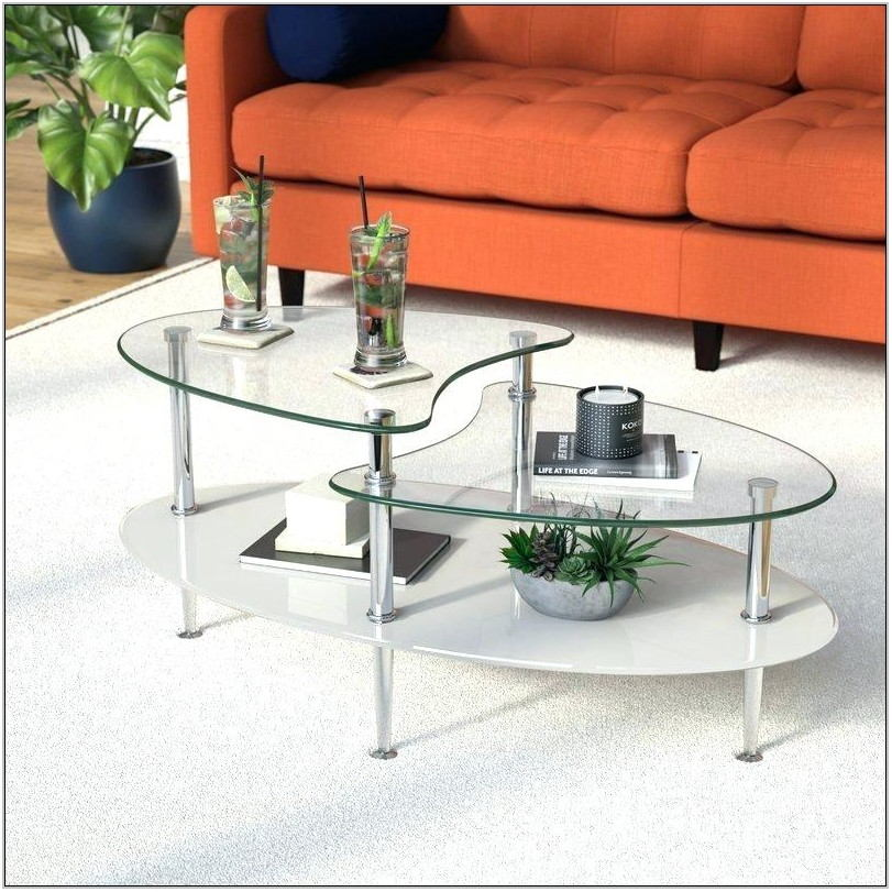 Glass Top Center Table For Living Room