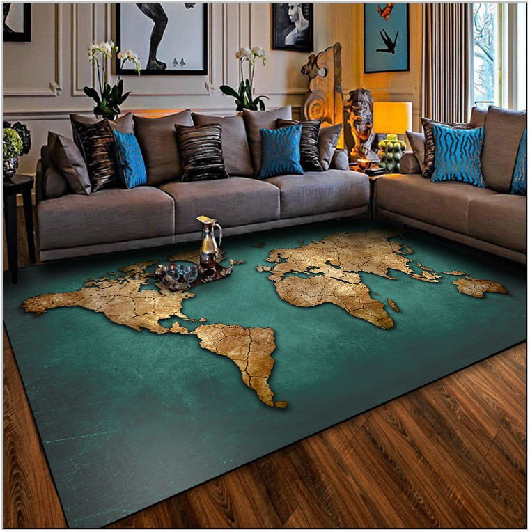 Gold Rugs For Living Room