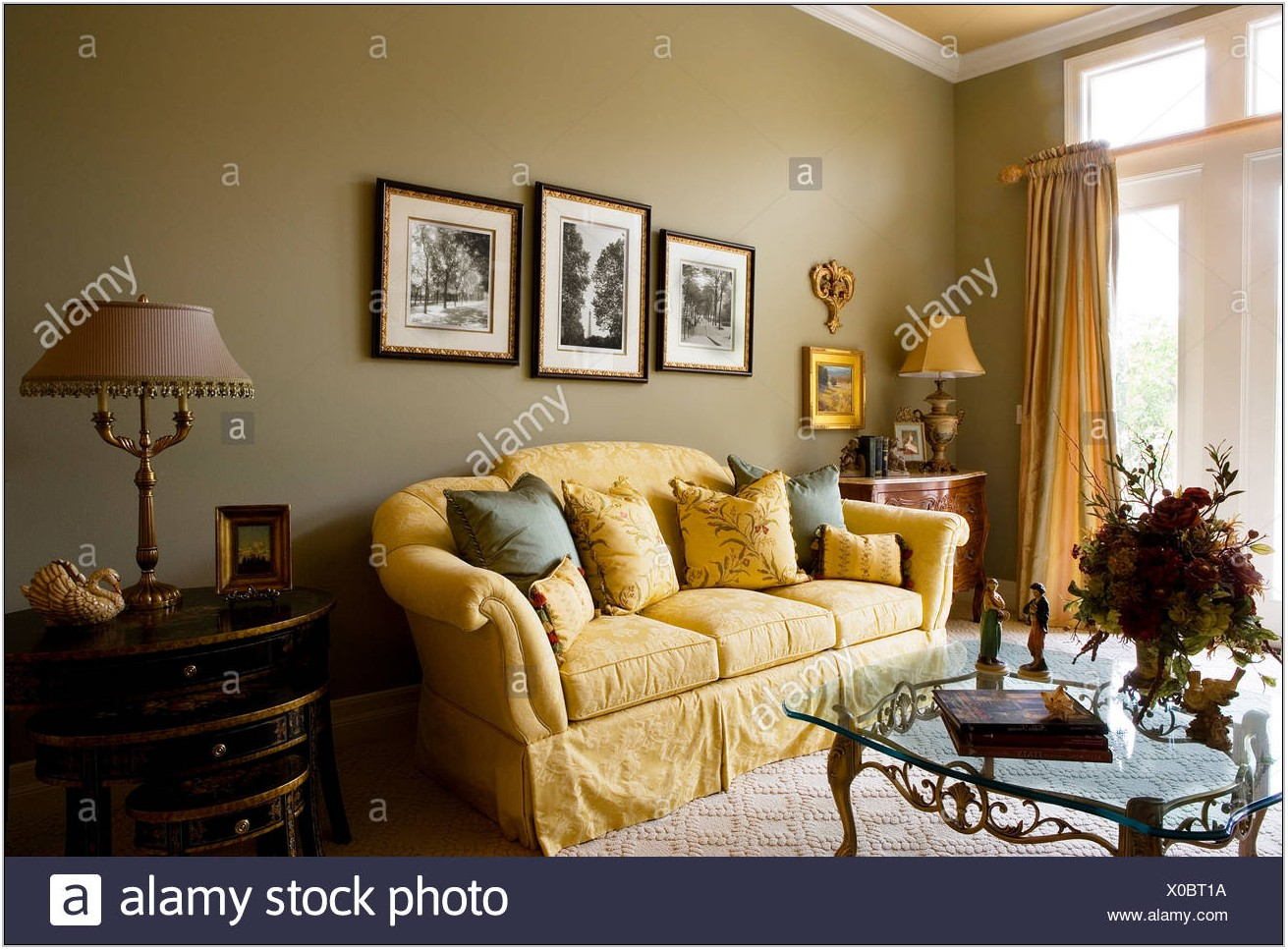 Gold Sofa Living Room
