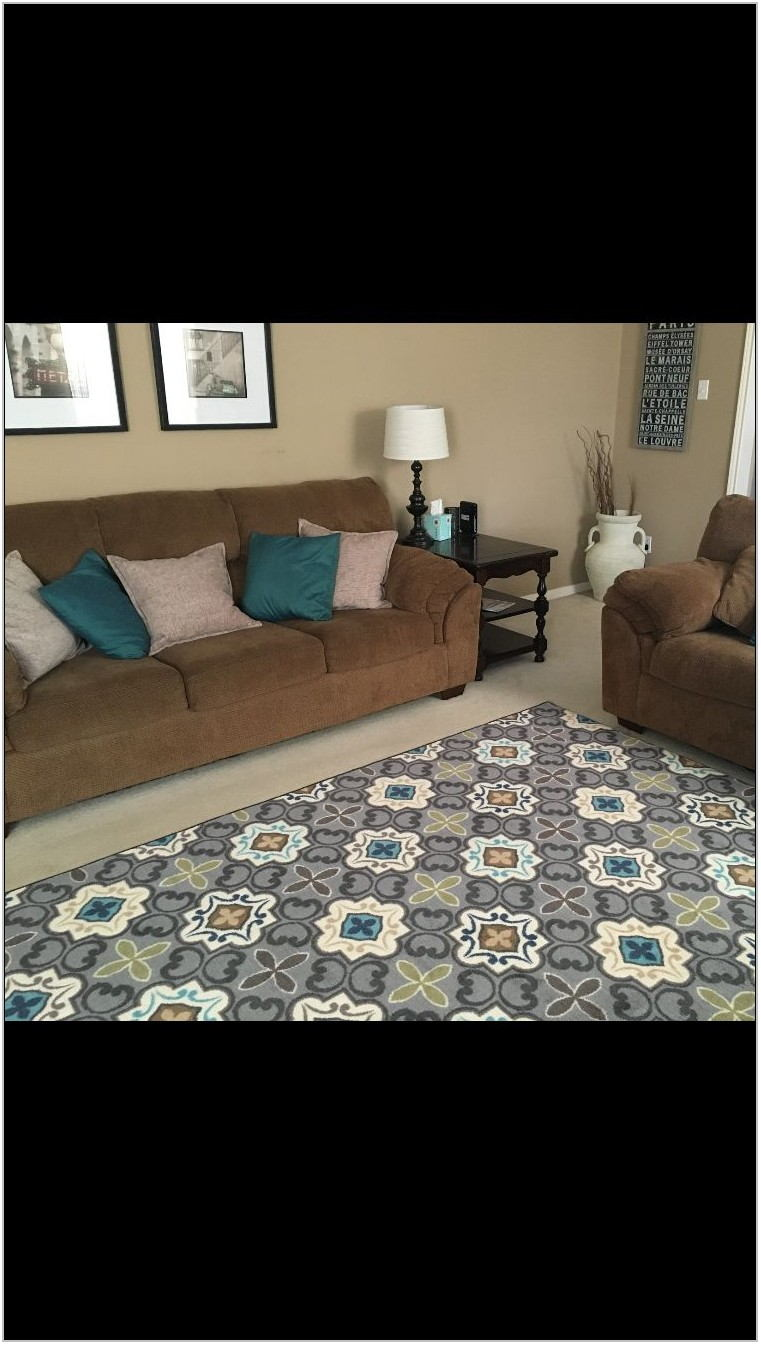 Gray And Brown Living Room Rug