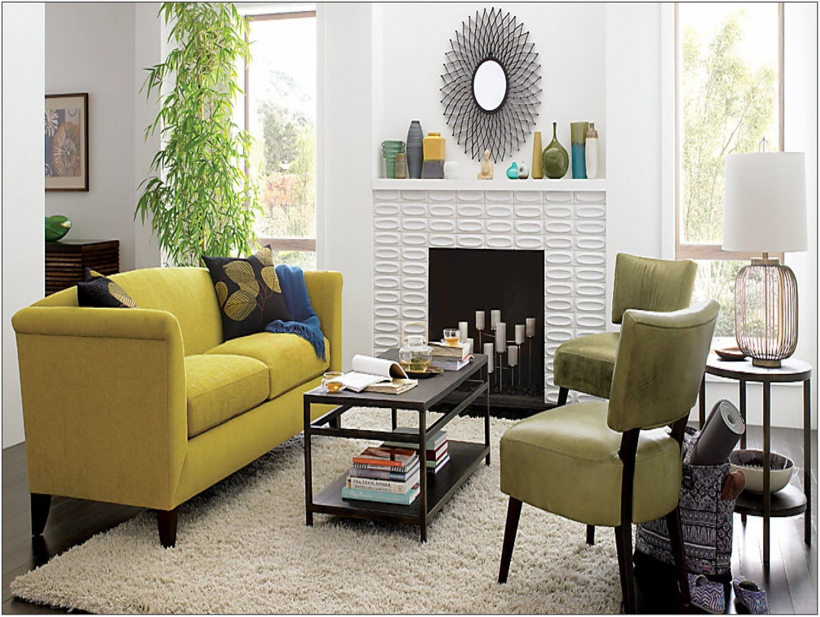 Gray And Yellow Living Room Sets