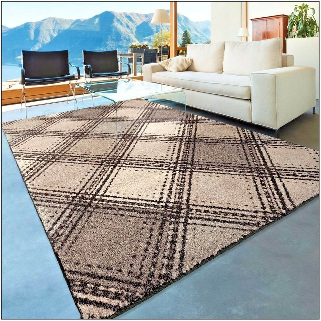 Gray Living Room Area Rug