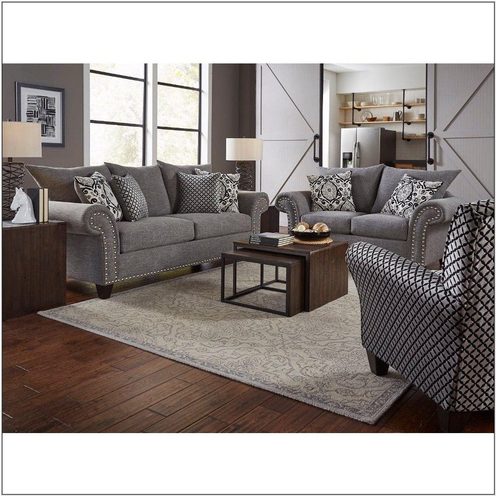 Gray Living Room Furniture Set