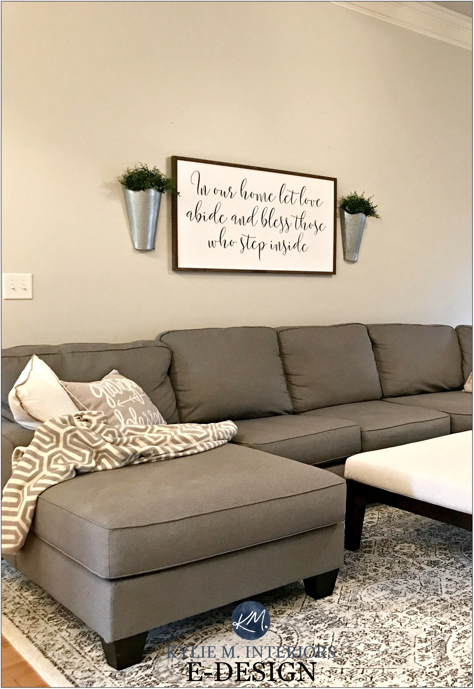 Gray Sectional Couch Living Room