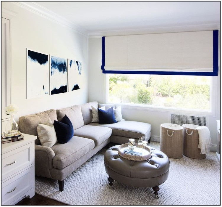 Gray White And Blue Living Room