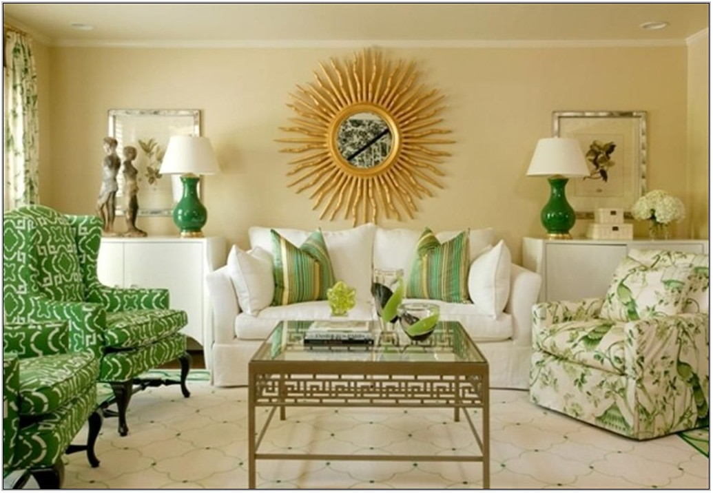 Green Color Palette For Living Room