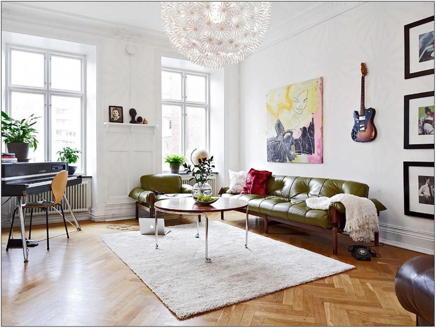 Green Leather Sofa Living Room Ideas