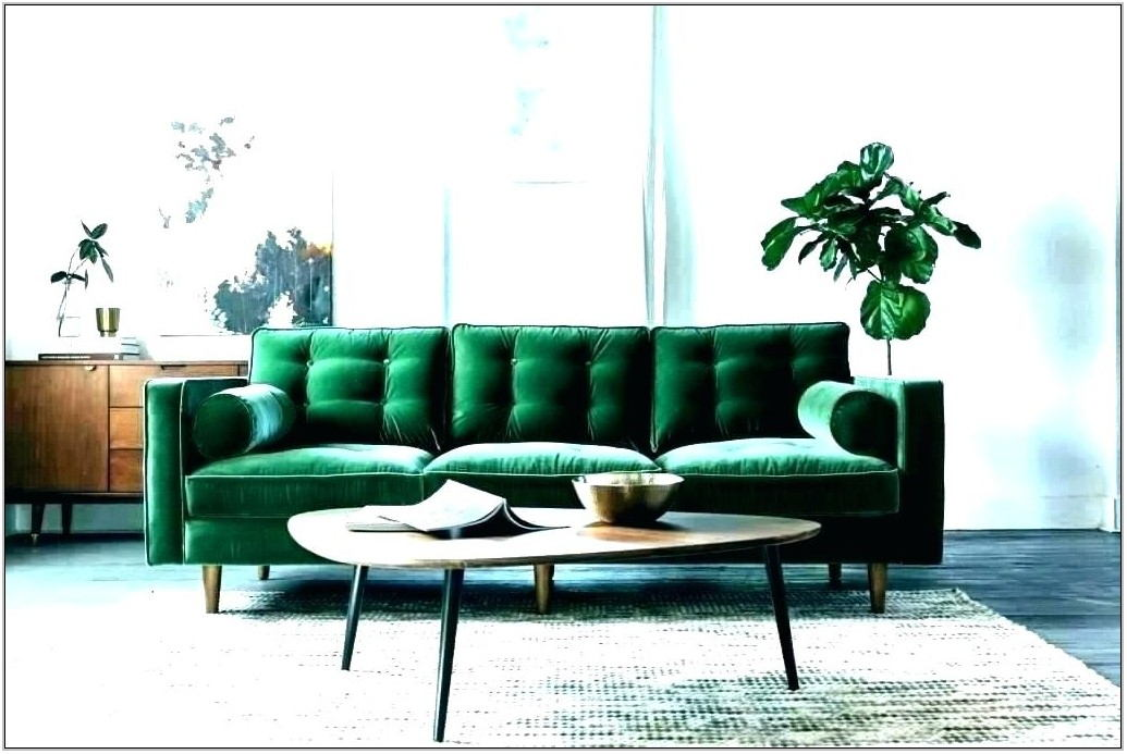 Green Velvet Couch Living Room