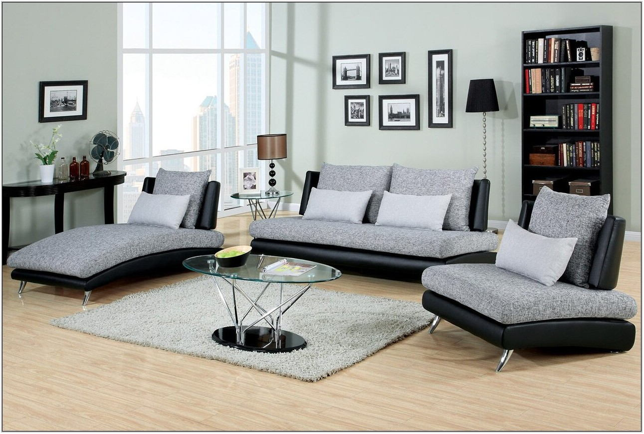 Grey 3 Piece Living Room Set