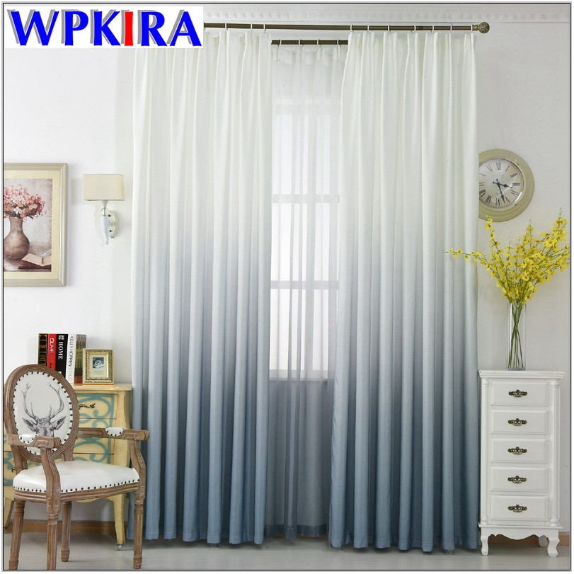 Grey And White Curtains Living Room